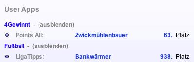 Profileinträge mit Anzeigename